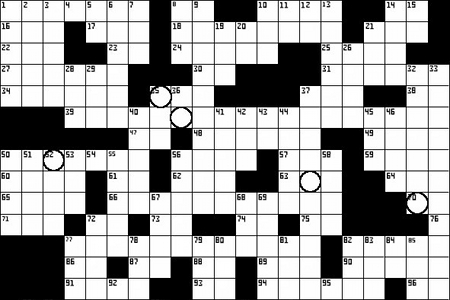 photograph relating to Merl Reagle Printable Crossword Puzzles named Crossword Puzzle: James Joyces Ulysses The Poor Penny (beta)